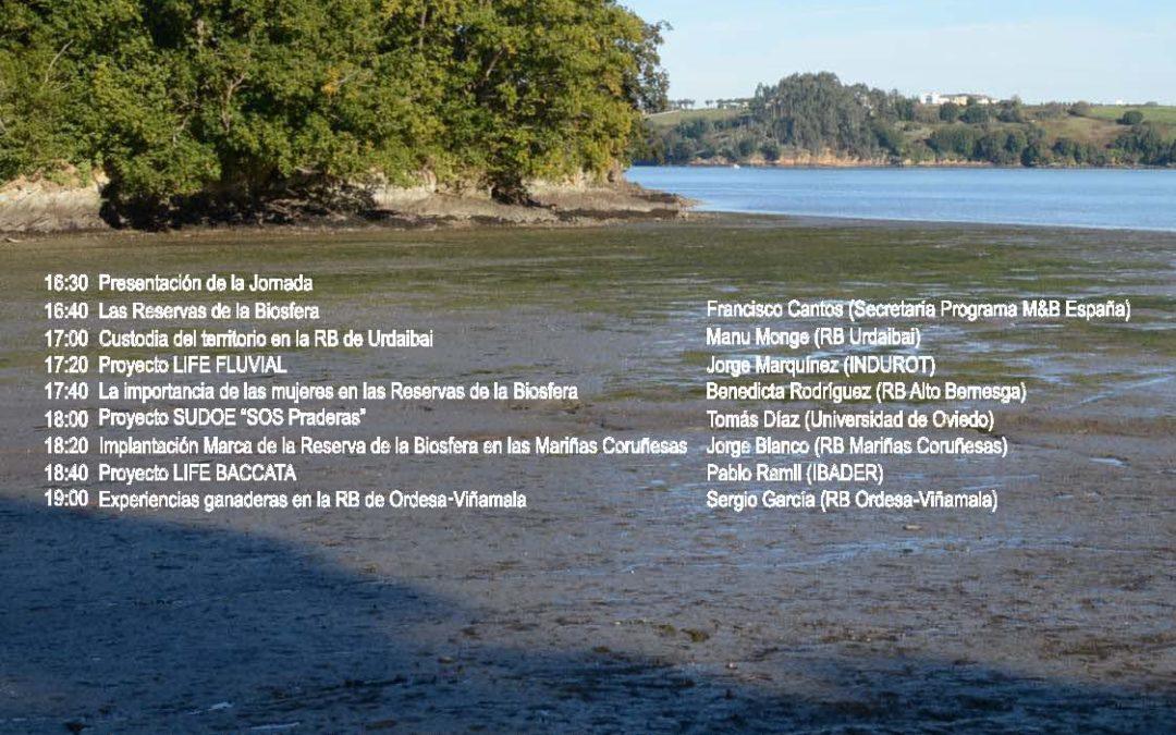 Presentación de SOS Praderas en la Jornada sobre Reservas de la Biosfera, Ribadeo (Lugo) 23 de marzo de 2018