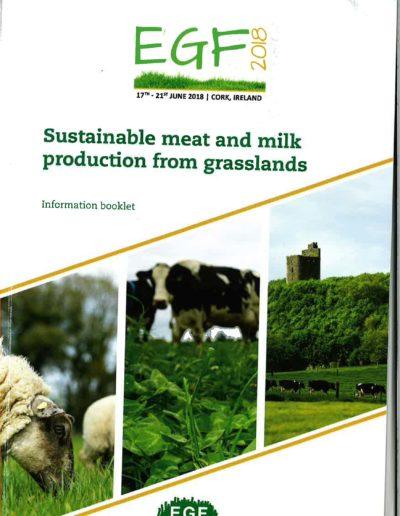"""Presentación de resultados del proyecto en el congreso internacional EGF 2018 """"Sustainable meat and"""