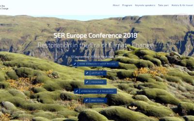 Presentación del proyecto SOS Praderas en SER European Conference 2018: Restoration in the Era of Climate Change, Reykjavík, Iceland