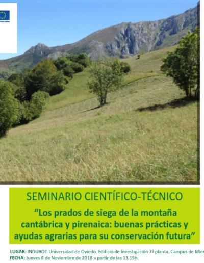 """Taller local. """"Los prados de siega de la montaña cantábrica y pirenaica: buenas prácticas y ayudas agrarias para su conservación futura"""""""