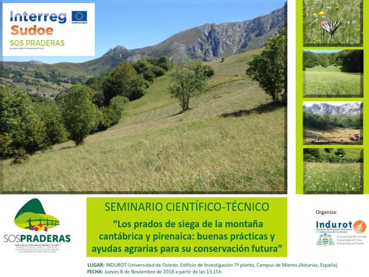 """Taller local: «Los prados de siega de la montaña cantábrica y pirenaica: buenas prácticas y ayudas agrarias para su conservación futura"""". 8 de noviembre de 2018"""